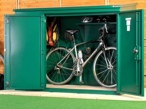 bike security shed
