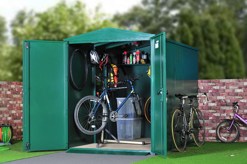 Metal storage for bikes