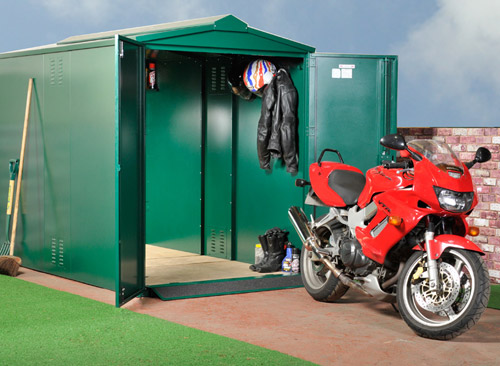 Durable motorcycle storage