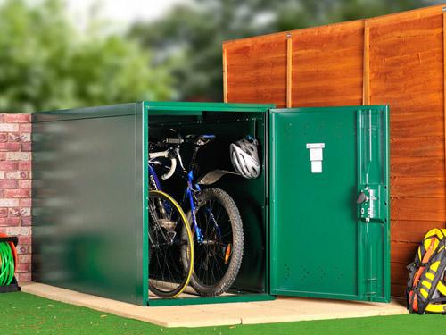 metal bike locker