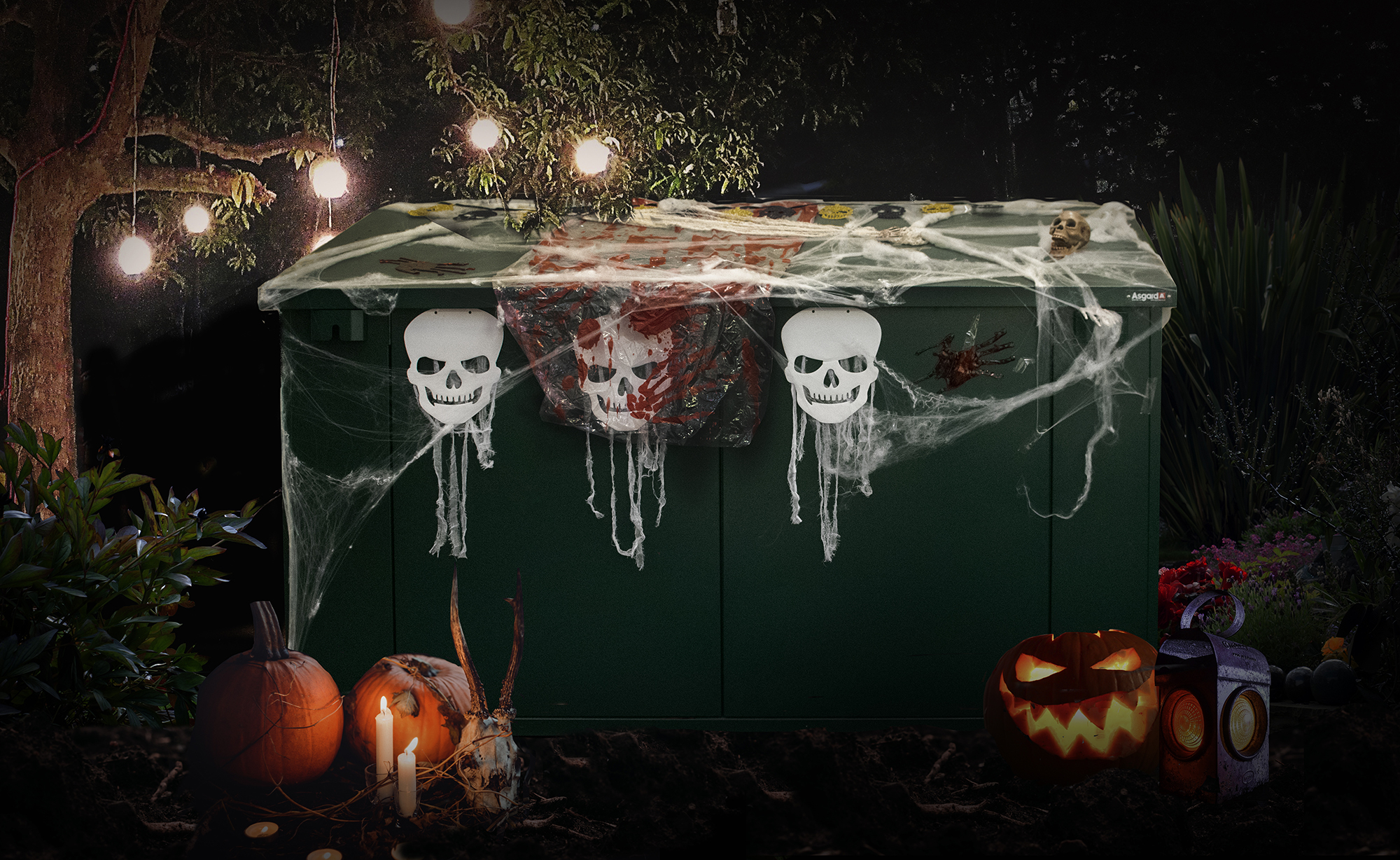Decorate your shed for halloween with Asgard