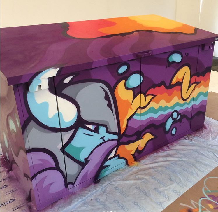 Asgard Customised Painted Shed
