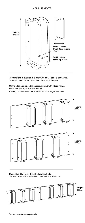 Gladiator shed bike rack