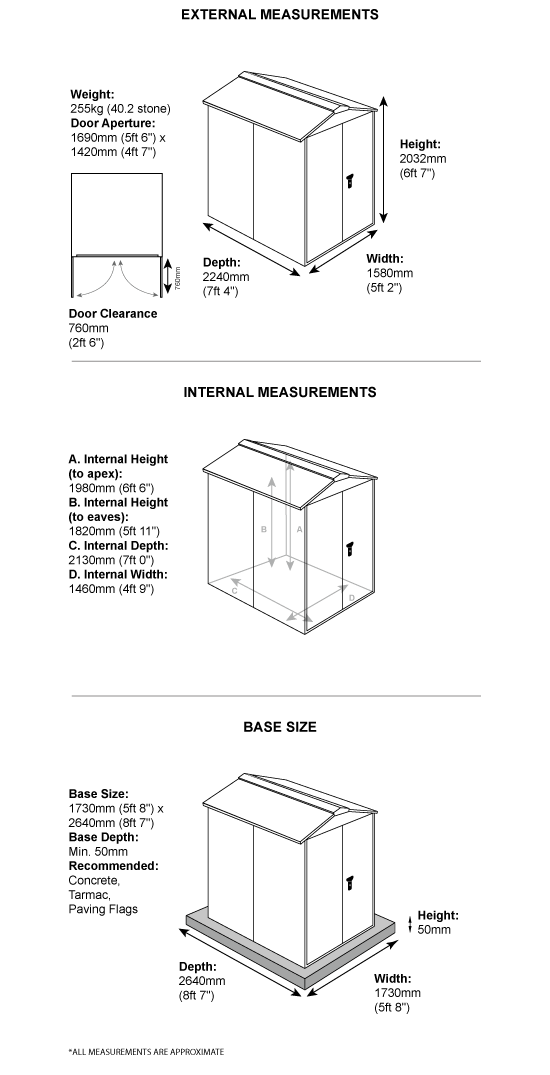 School Storage Pack 1 Dimensions