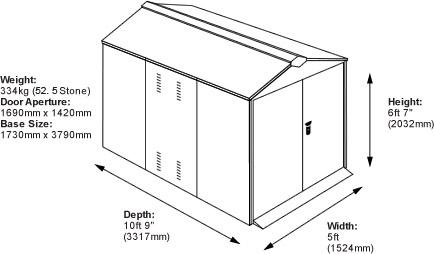cycle garage dimensions