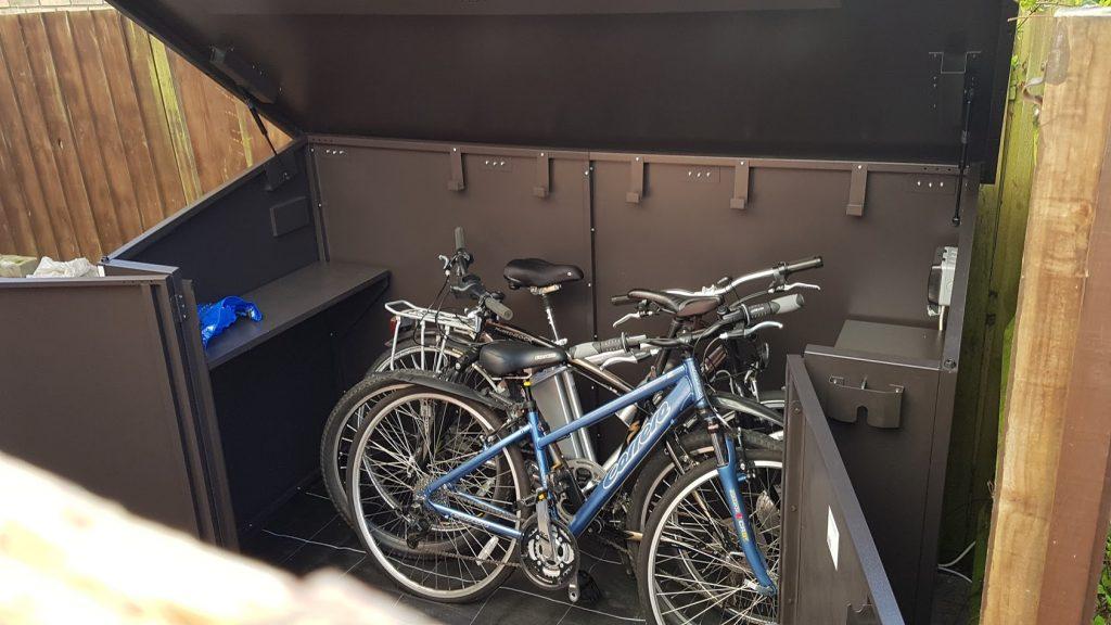 Asgard metal bike shed