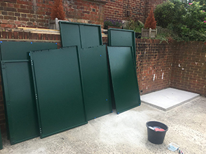 Asgard Annexe Bike Storage is delivered in individual panels