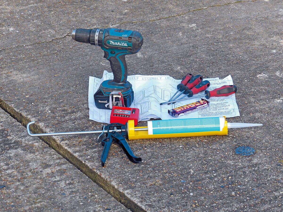 Asgard shed installation tools