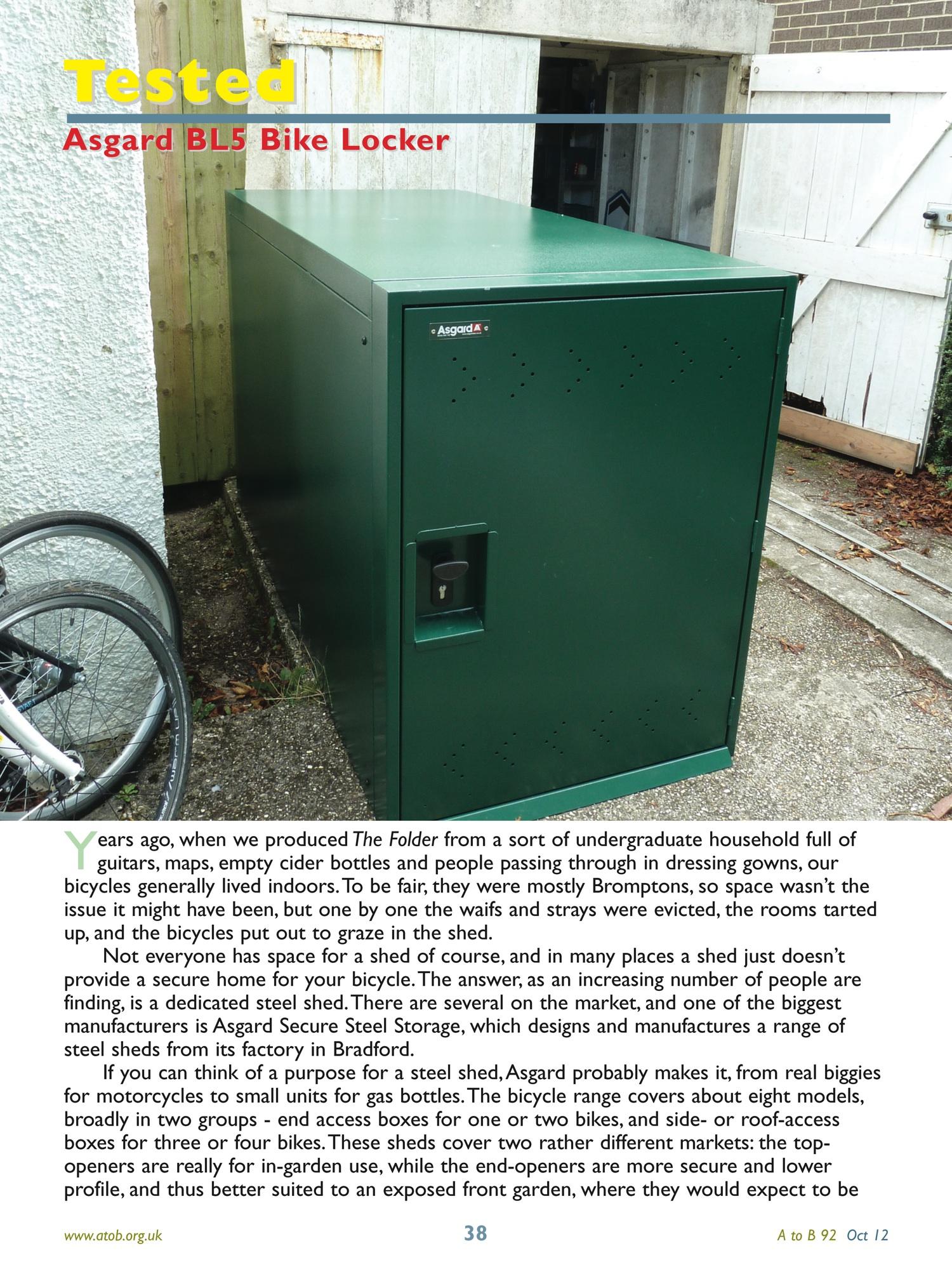 AtoB Bike Locker Review