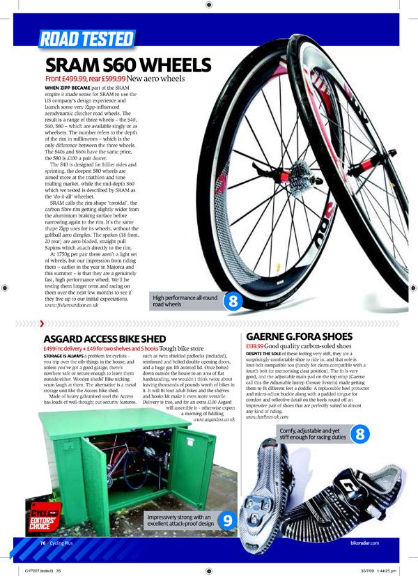 Cycling Plus Editors' Choice Magazine Feature