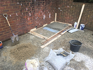 Building a level concrete base